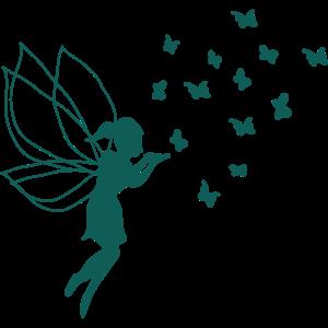 Elfe Schmetterlinge personalisierbar