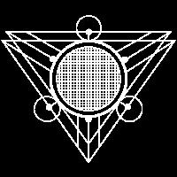 Esoterik Symbol Dreieck Runenkreis Hexe Hexer Magi