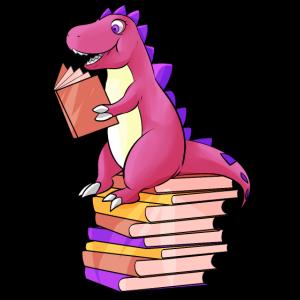 Dino liest Bücher