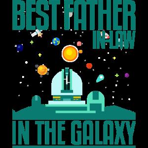 Bester Schwiegervater im Galaxy T-Shirt