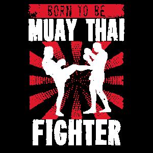 Muay Thai Kampfkunst Geschenk Kaempfer