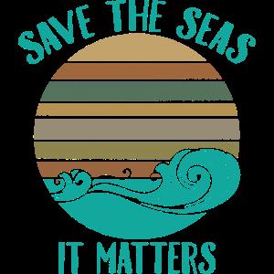 Klimawandel Retro rettet die Meere Geschenk