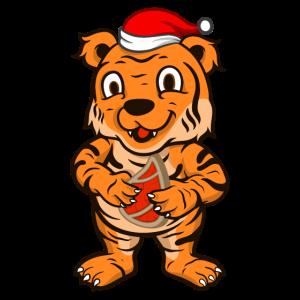 Weihnachtsmann Tiger