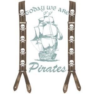 Pirates, Pirat, Hosenträger,Totenkopf, Schiff