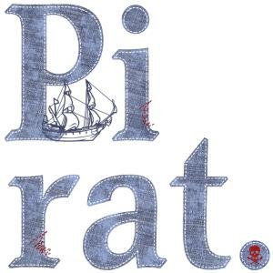 Pirat, Seeräuber, Schiff, Denim, Totenkopf