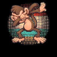 Dabbing Monkey T Shirt Funny Dab Gift