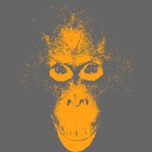 Orang-Utan Gesicht orange