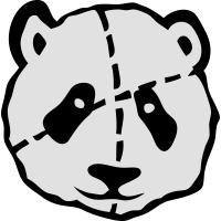 gepunkteten Panda Kuscheltier 1