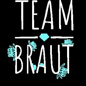 Team Braut JGA Junggesellinenabschied Blumen