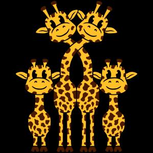 Süße Niedliche Kleine Giraffen Familie Papa Mama 2
