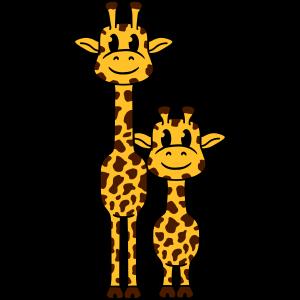 Süße Niedliche Kleine Giraffen Familie Papa Mama K