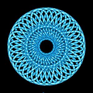 Blaues Rad Mandala