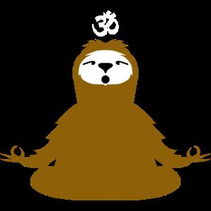 Faultier Yoga Namaste Ohm Meditation