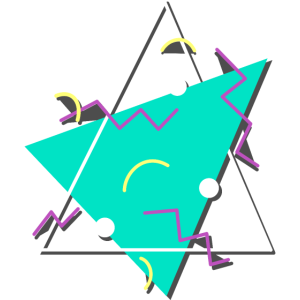 Typisches 80er Jahre Muster Dreiecke Formen