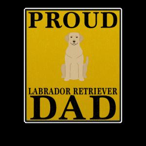 Stolzer Labrador-Retriever-Vati