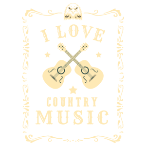 I Love Country Music - Country Musik Geschenk