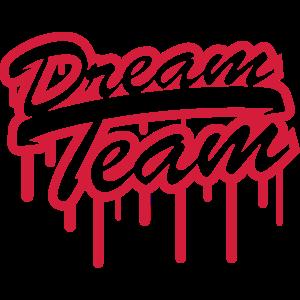 Stempel Graffiti Logo Design Dream Team Freunde Pa