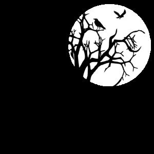 scary tree raven