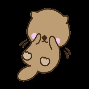 Otter Anime Manga Style cute sweet