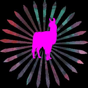 Lama in Pink, Alpaka, Geschenkidee