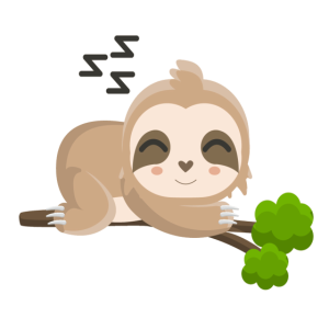 Süßes schlafendes Faultier