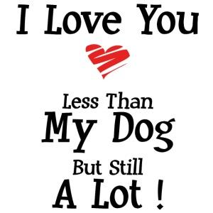 I love you less