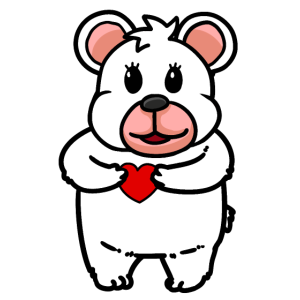 Teddybär mit Herz Liebe Beziehung Freundschaft
