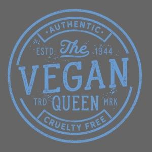 The Vegan Queen - Vintage Stamp Logo