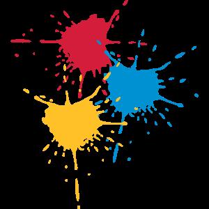 Farbkleckse 3 Grundfarben - V3