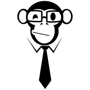 Wise Monkey Business Affe schwarz