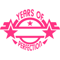 addieren Jahr  2 years perfection logo