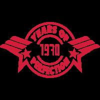 1970 years perfection logo anniversaire 2