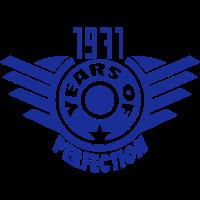 1971 years perfection  logo anniversaire