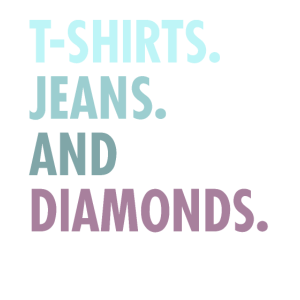 jeans and diamands
