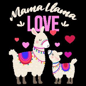 Mama Llama - Muttertag & Schwangerschaft Geschenk