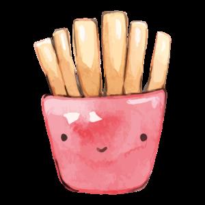 Kawaii Pommes Tüte Emoji
