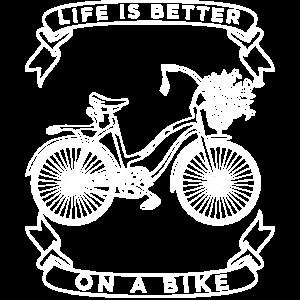 Fahrrad Frauen Damen Shirt T-Shirt Geschenk