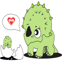 Dinosaurier Ei Baby