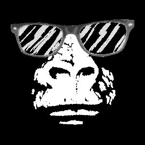 Gorilla mit Nerdbrille
