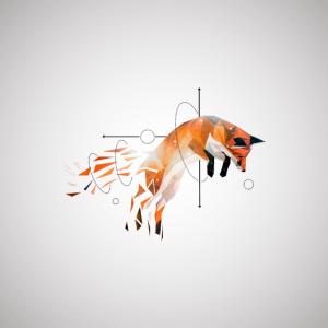 Low Poly Fuchs Rotfuchs wild tier poster geschenk