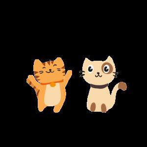Katze Spruch Zwei Katzen Geschenkidee