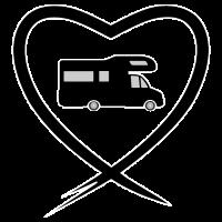 Herz Wohnmobil schwarz