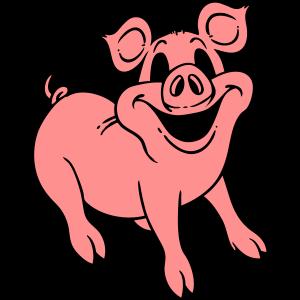 Schwein lächelt freundlich