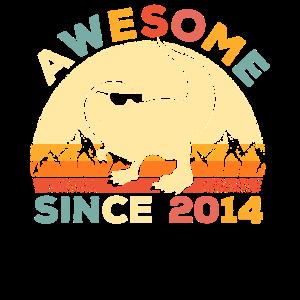 Super seit 2014 Geschenk 5. Geburtstag Dino T-Rex