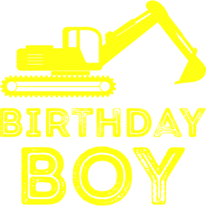 Birthday Boy Kindergeburtstag Baustelle