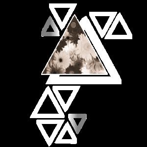 Dreieck / swag / Blumen / Hipster / Symbol / Retro