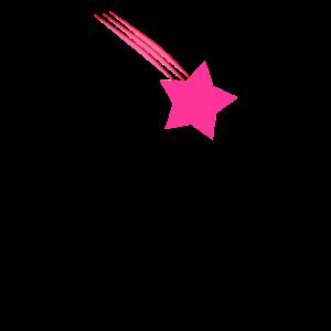 Sternschnuppe. Stern. Pink. Geschenk