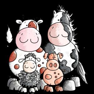 Lustige Bauernhoftiere - Tiere