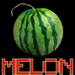 Geometrische Melone Obst Früchte Geschenk