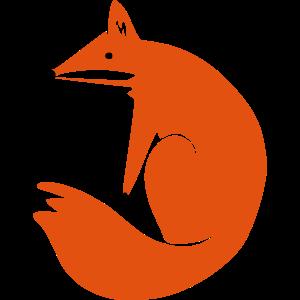 Sitzender Fuchs
